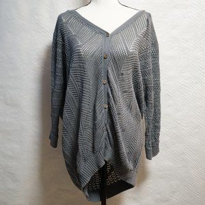 Torrid Gray Knit Button up 2X